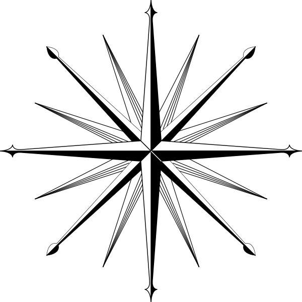 Explorer clipart compass star. Marley tattoo black and