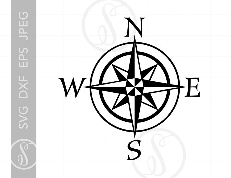 Compass clipart pdf. Nautical svg cut file