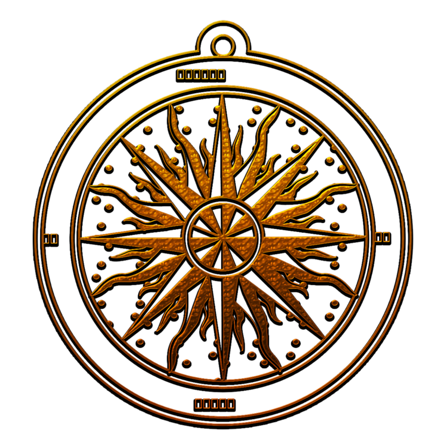 Compass clipart pirate. Bronzed rose with shadow