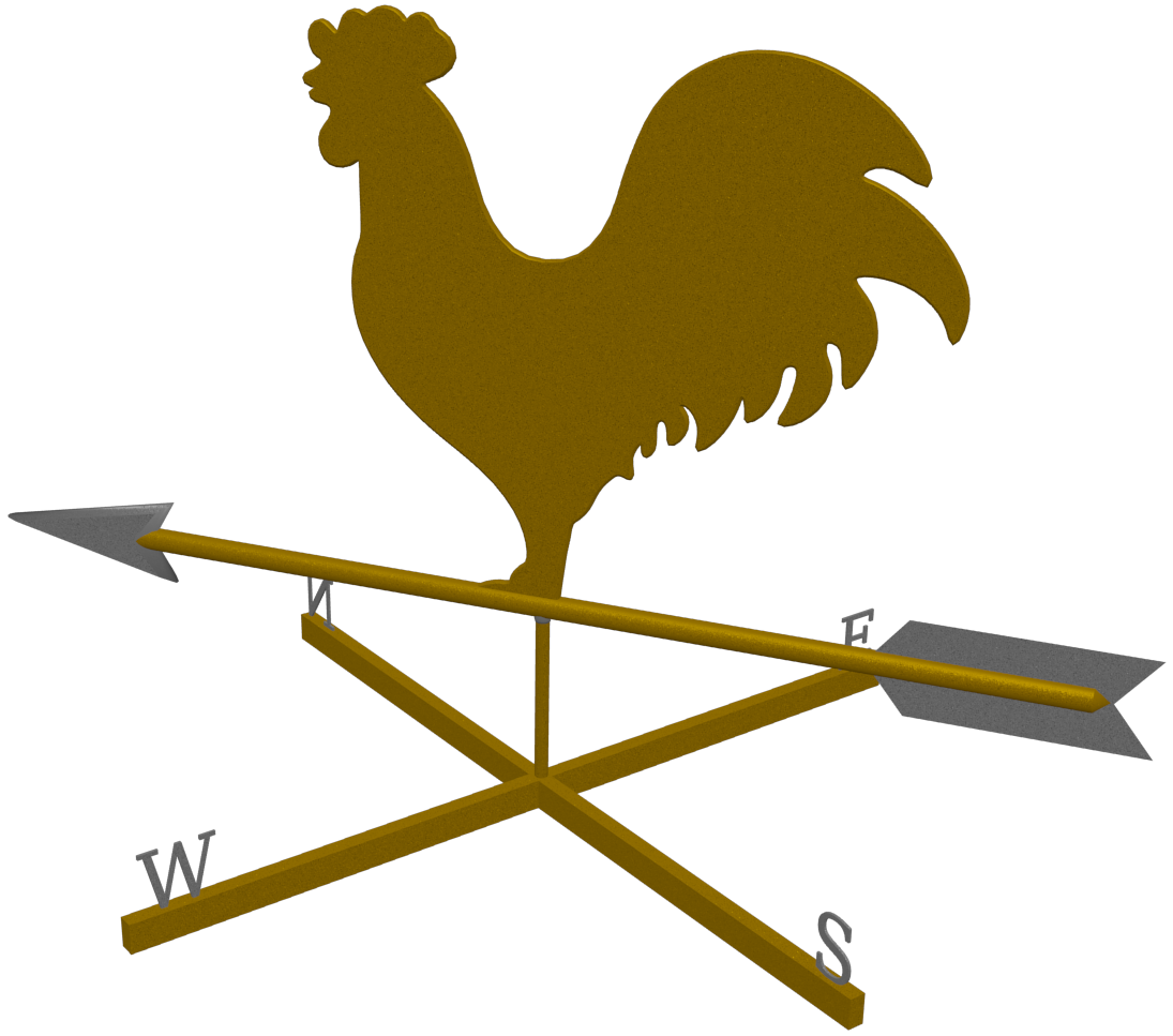 Compass clipart rooster. North weather vane classical