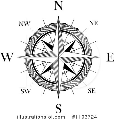 Illustration by vector tradition. Compass clipart royalty free