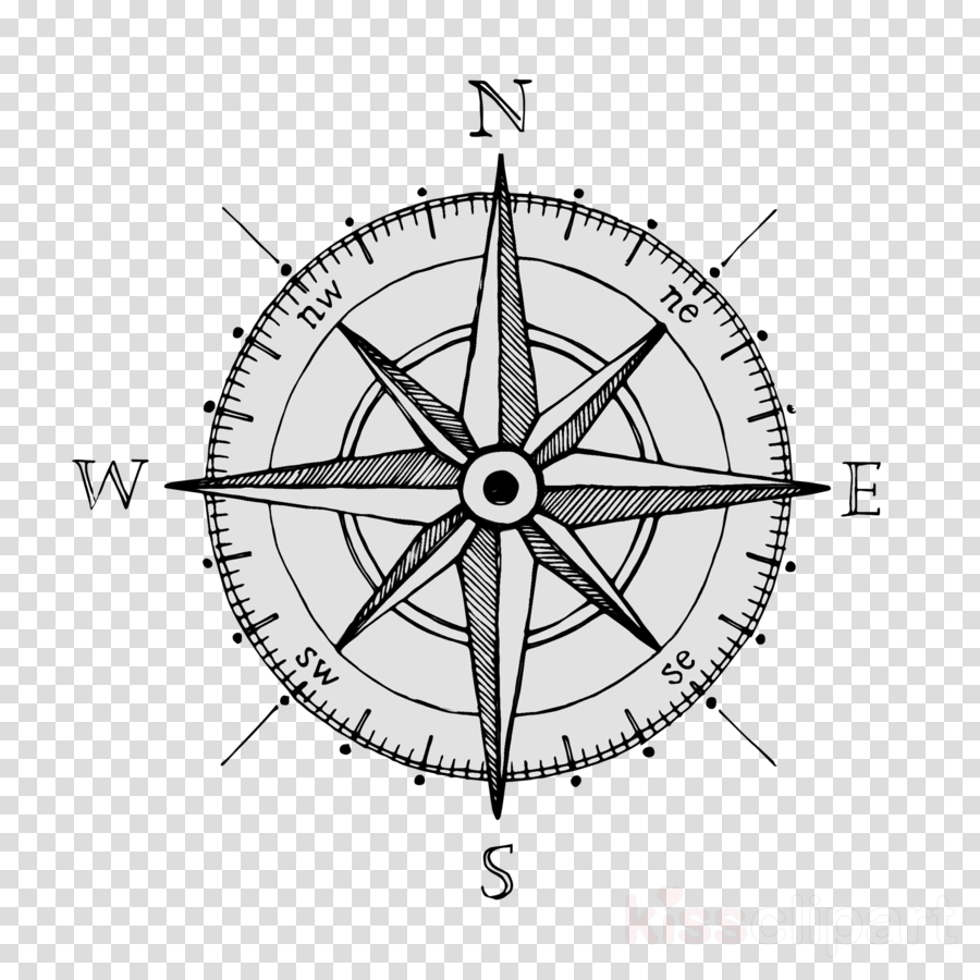 Rose drawing . Compass clipart royalty free