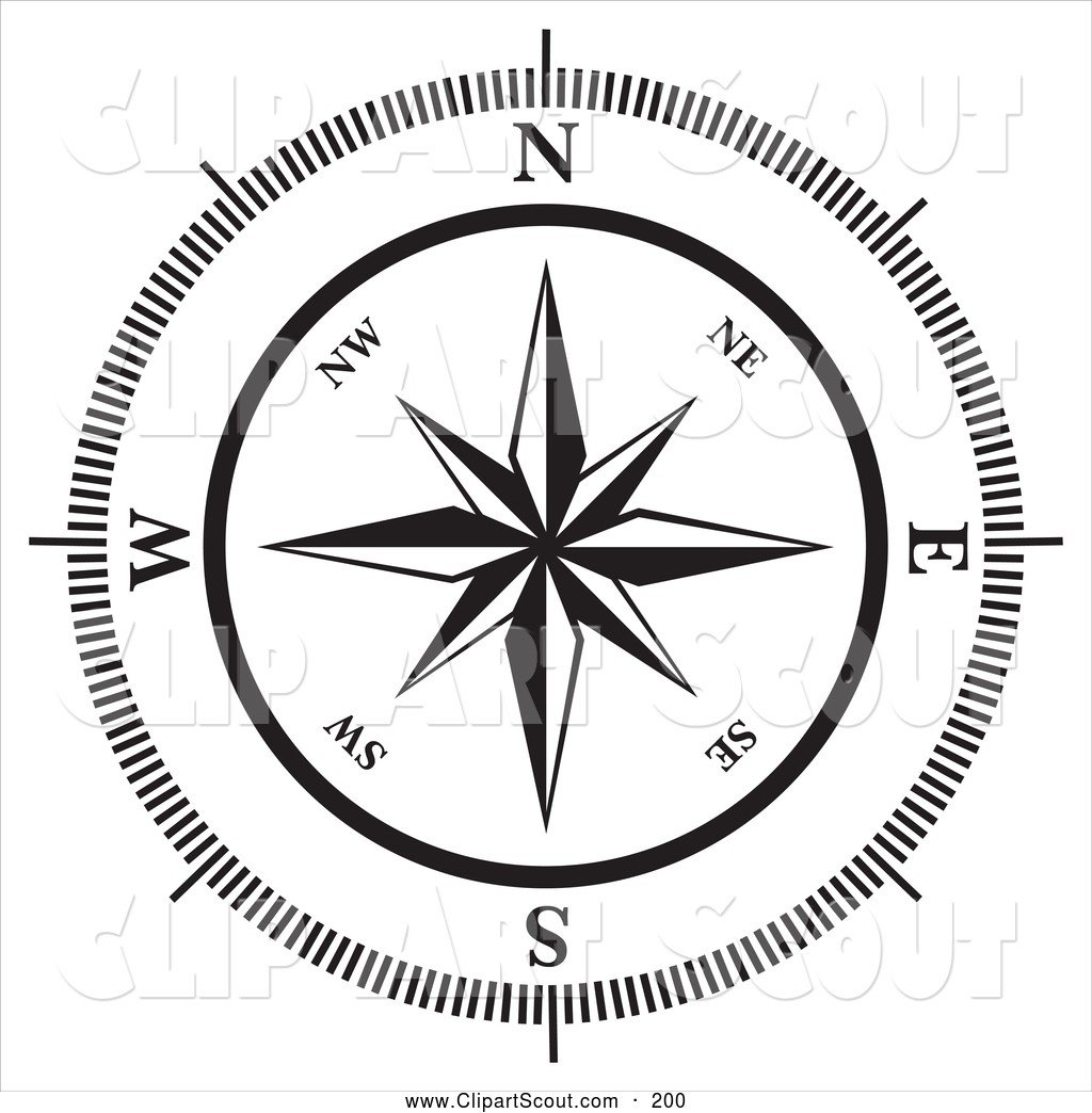compass clipart scout map