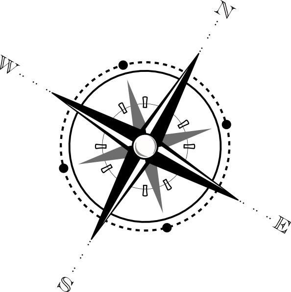 Compass clipart ship. Black and white clip