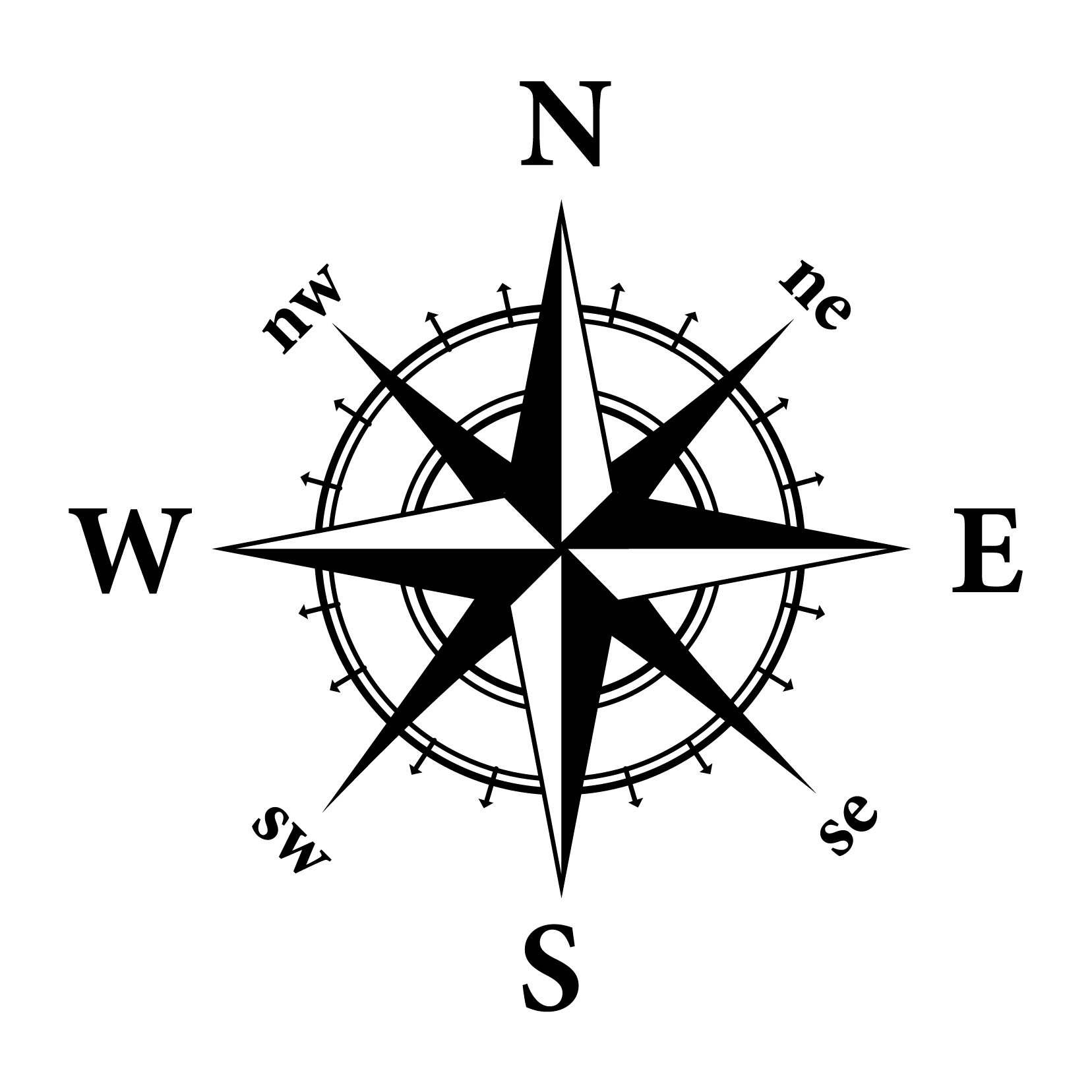 Star outline icon gallery. Steampunk clipart compass rose