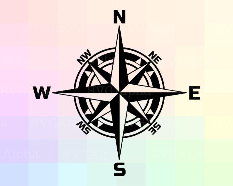 Compass clipart silhouette. Travellers svg dxf cricut