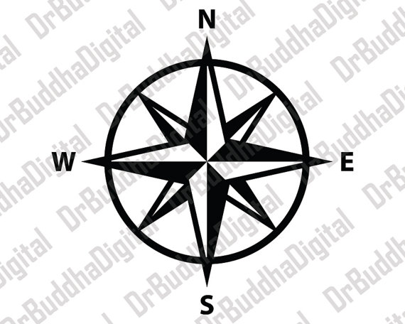 Compass clipart silhouette. Holiday sale rose svg