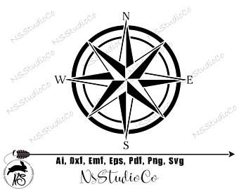 Etsy . Compass clipart silhouette