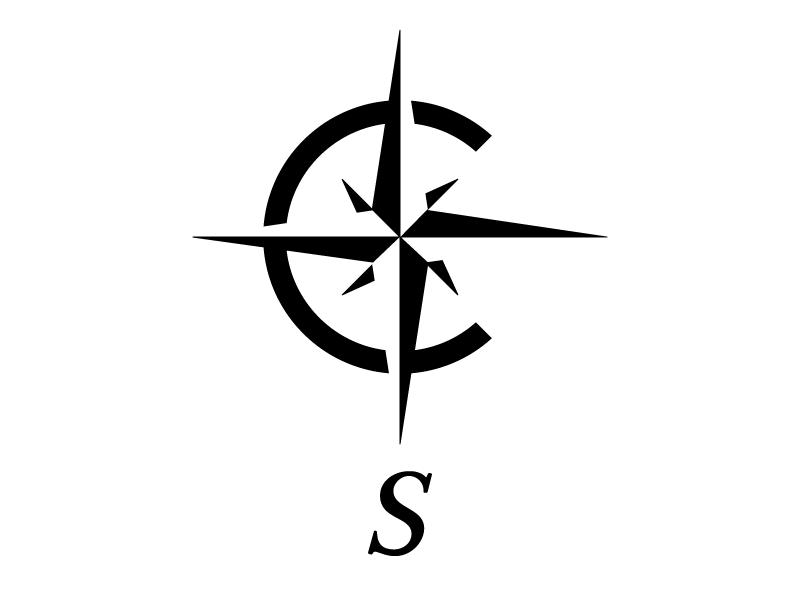 Logo x free clip. Compass clipart south