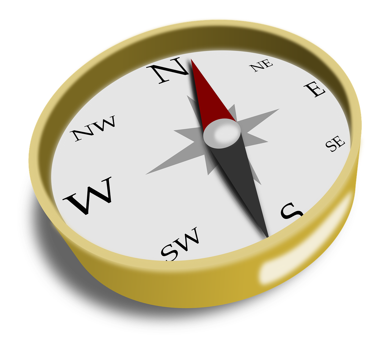 Direction navigation png image. Compass clipart south
