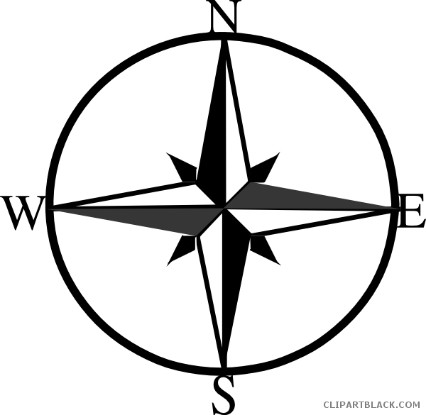 North east west clipartblack. Compass clipart south