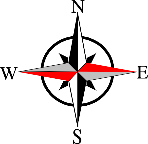 Compass clipart south. East west ten clip