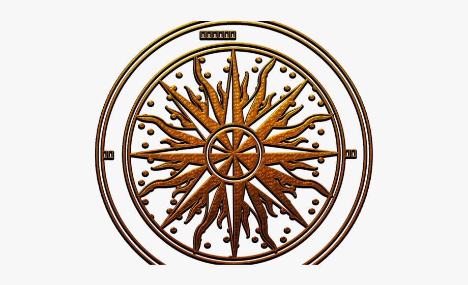 Egyptian rose . Compass clipart steampunk compass