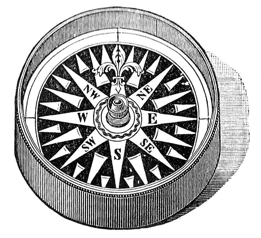 Compass clipart steampunk compass. Vintage clip art the