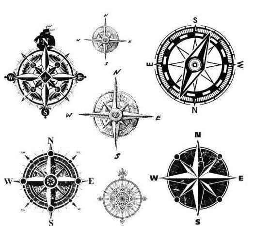 Clip art . Compass clipart steampunk compass