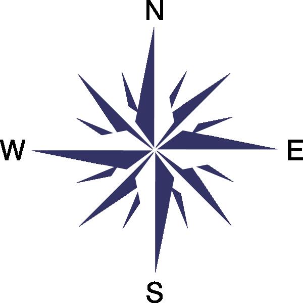 Rose clip art at. Compass clipart vector