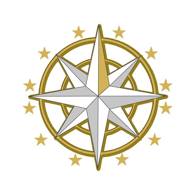 Compass clipart vector. Golden direction sunset png