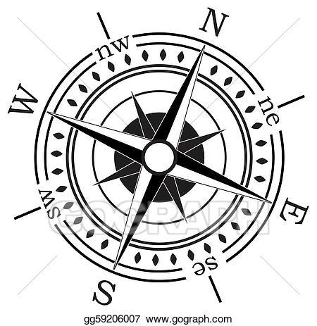 Compass clipart vector. Art drawing gg gograph