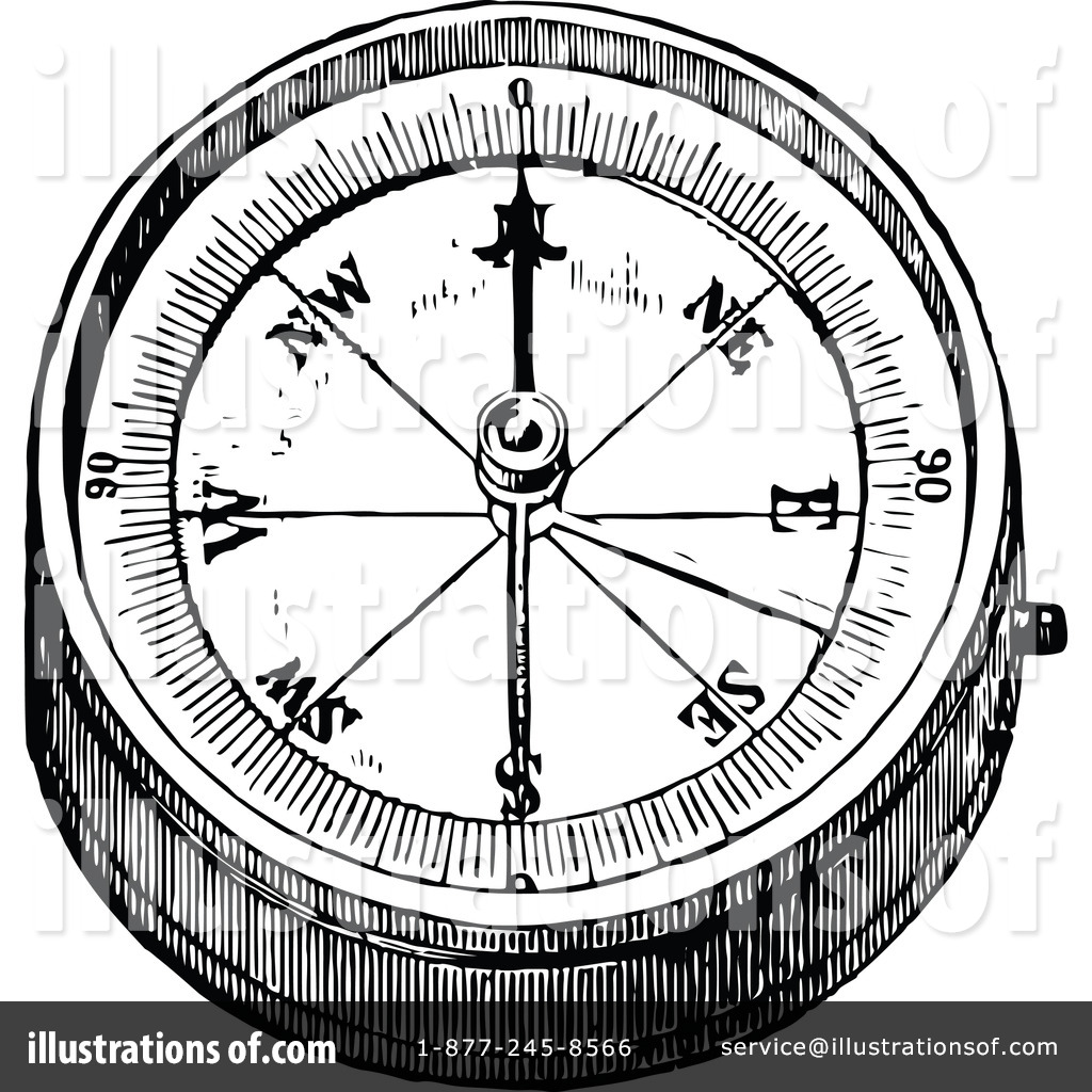 Compass clipart vintage. Illustration by prawny