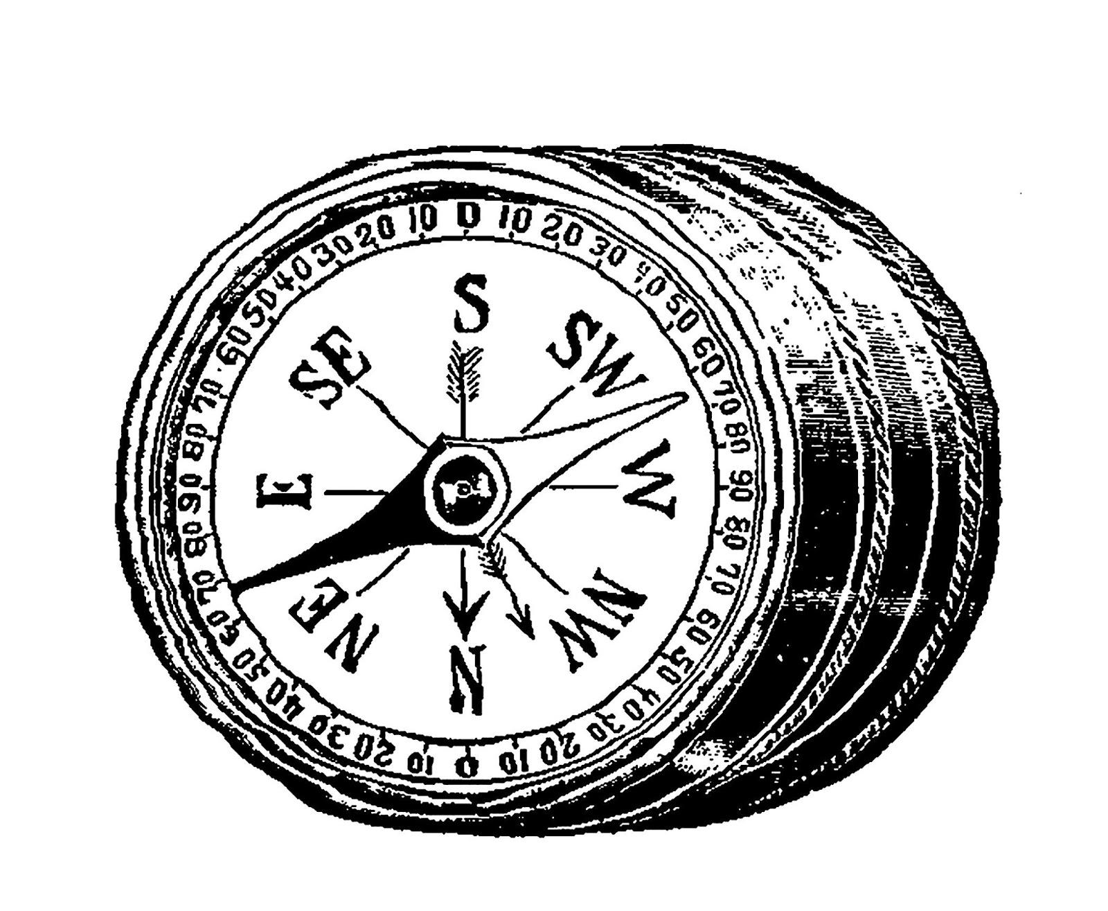 Antique images digital image. Compass clipart vintage