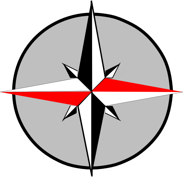 East west compass clip. Geography clipart compus