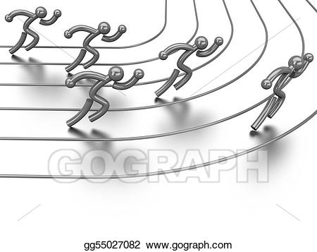Stock illustration athletics drawing. Competition clipart