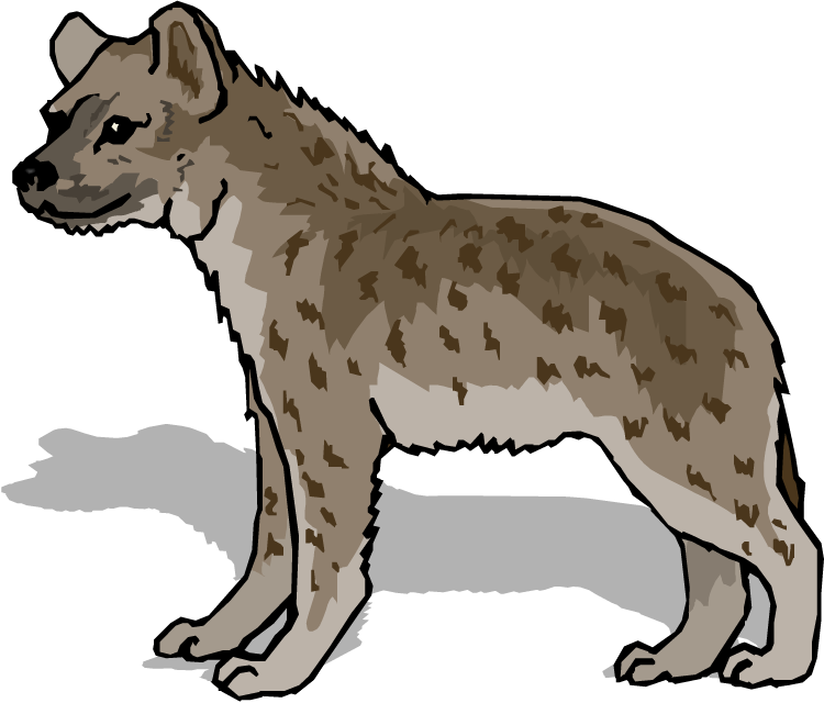 Head clipart hyena. Free spotted