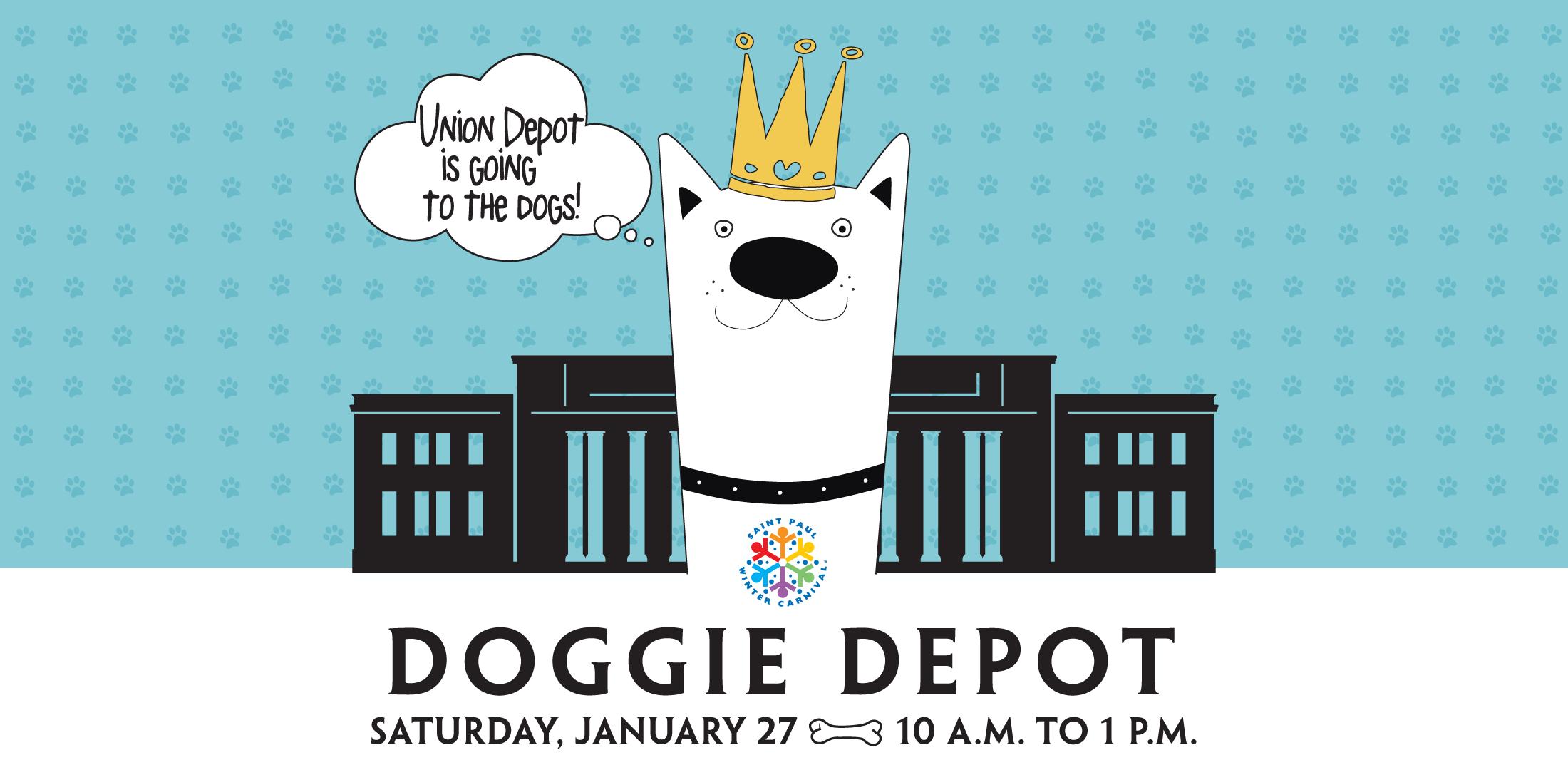 Snowball clipart winter carnival. Doggie depot saint paul