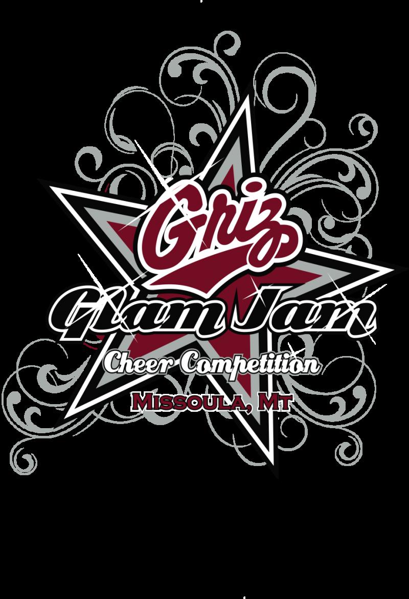 Competition clipart cheered. Griz glam jam cheerleading
