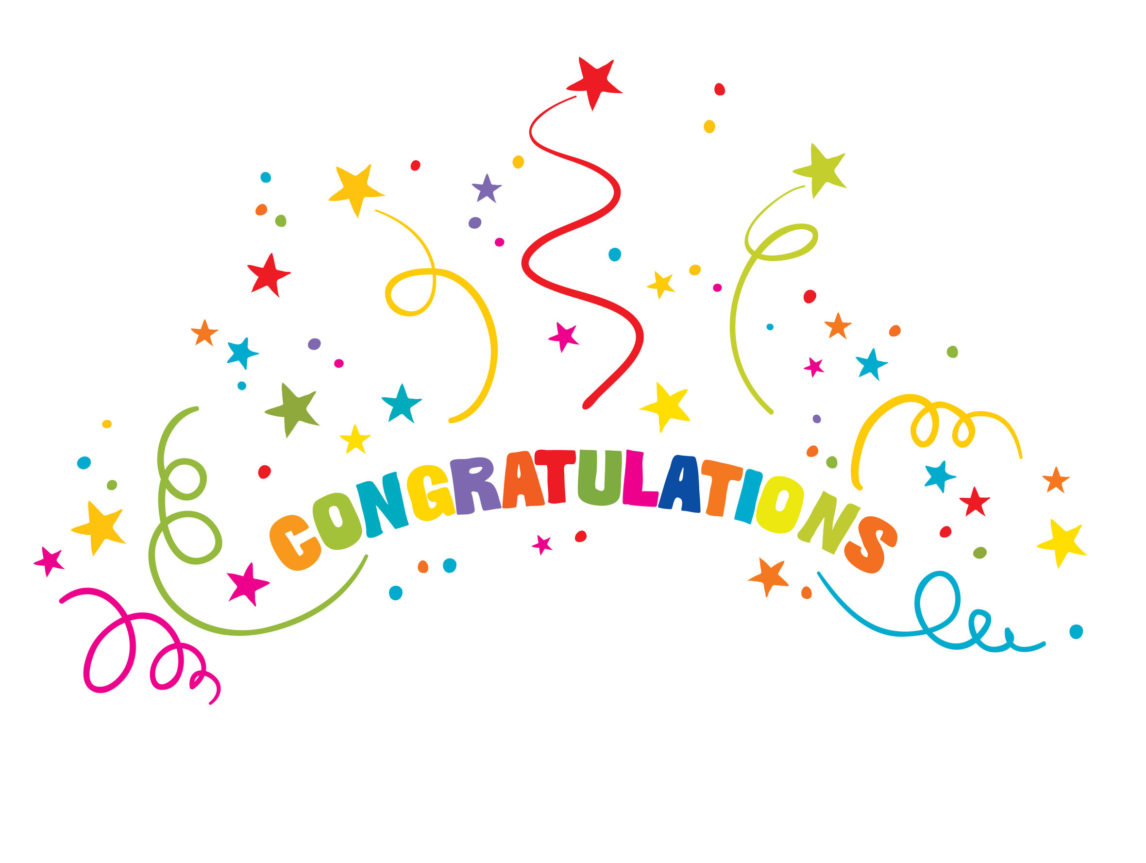 Free download clip art. Streamers clipart congratulation