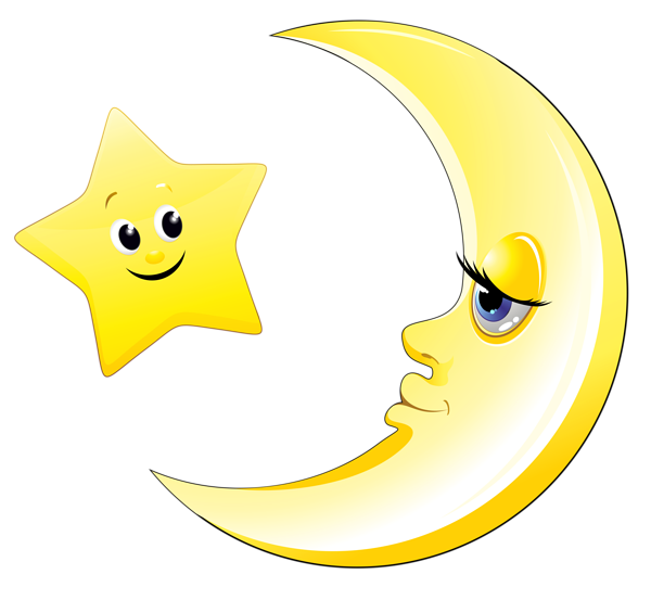 Competition clipart face smiley. Transparent cute moon and