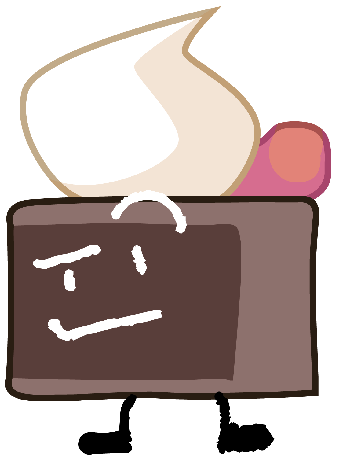 Cake object shows community. Glue clipart bfdi