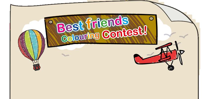 Pelikan best friends contest. Competition clipart grand prize