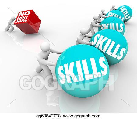 Skill vs no skills. Competition clipart market failure