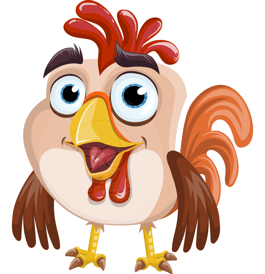 A perky rooster vector. Dreaming clipart aspire