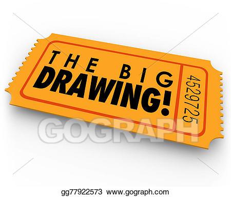 Raffle clipart jackpot winner. Drawing the big ticket