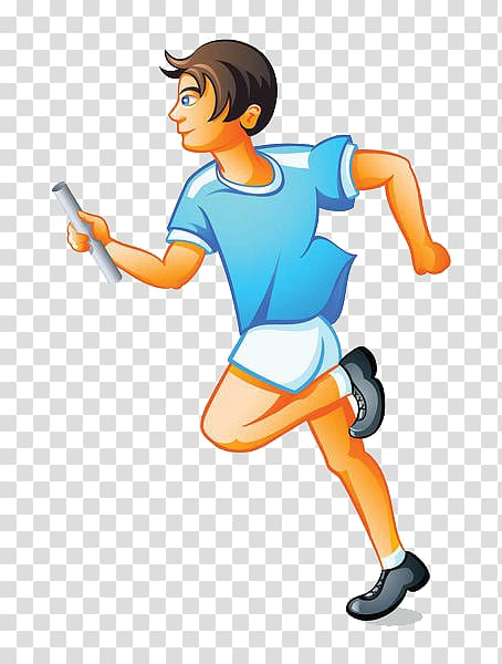 Relay team transparent background. Race clipart road run
