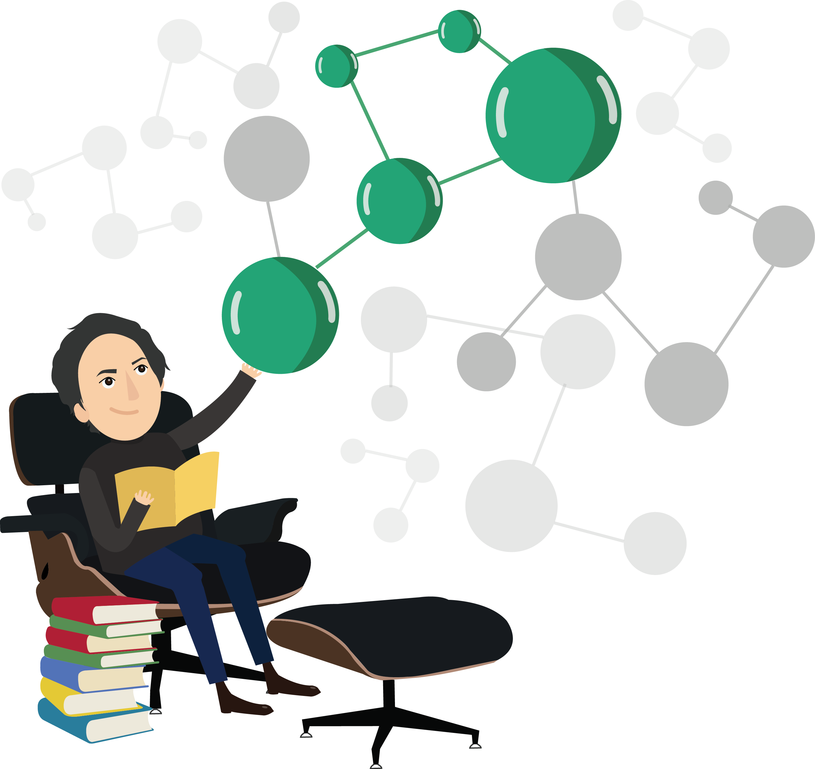 Artificial intelligence in seo. Organized clipart content page