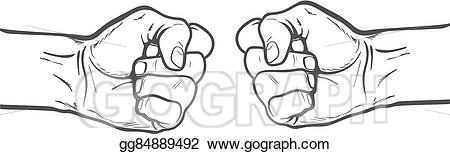 Vector art fist as. Competition clipart resistance