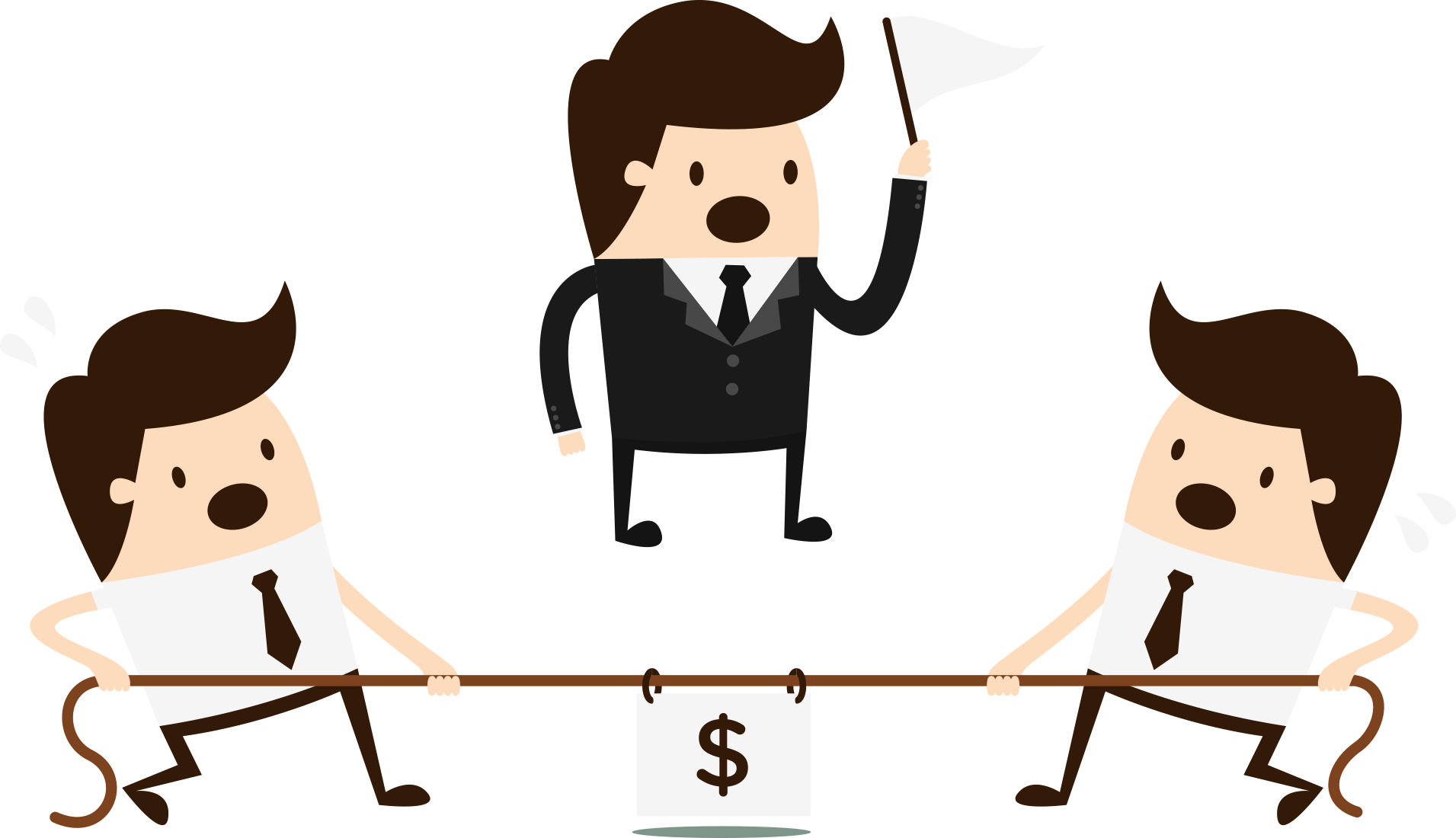 Competition clipart transparent. Price war business people