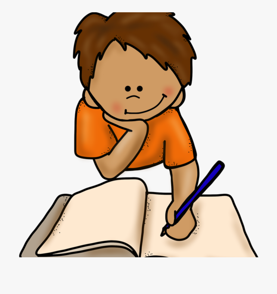 Write free writer clip. Handwriting clipart boy