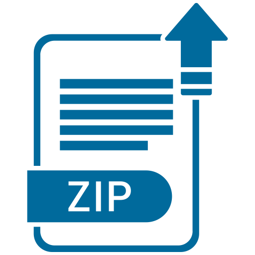 Compress files png. Zip format extension icon