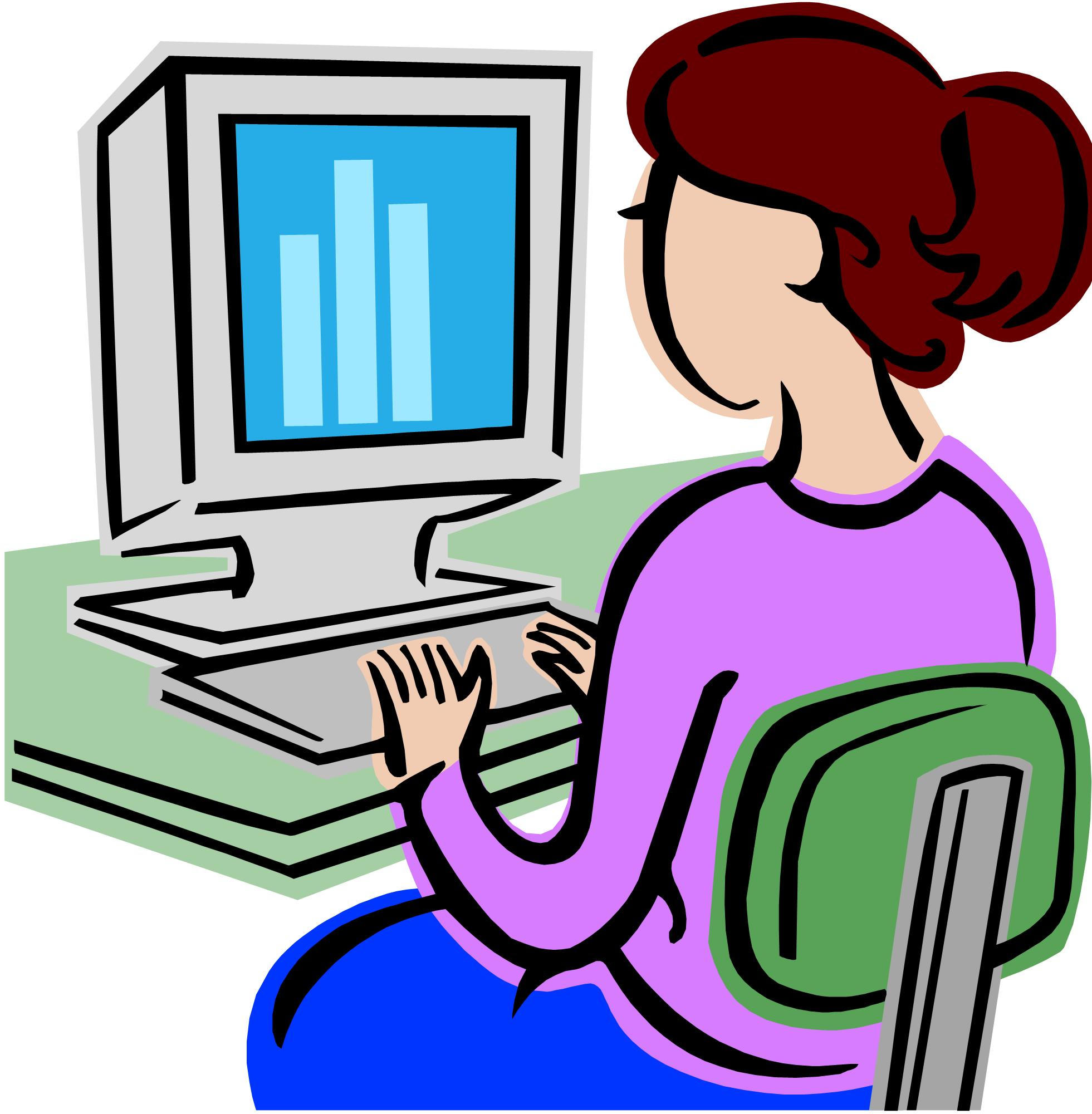 Lady on clipart . Computer clip art
