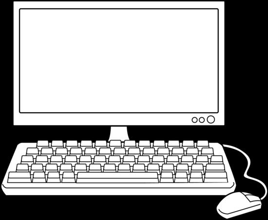 Recherche google for the. Computer clipart black and white