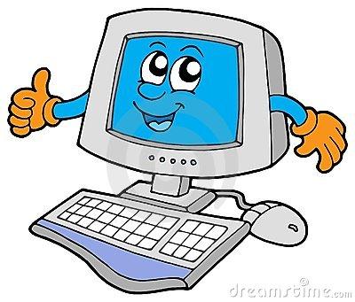 Computer clip art. Happy user clipart panda