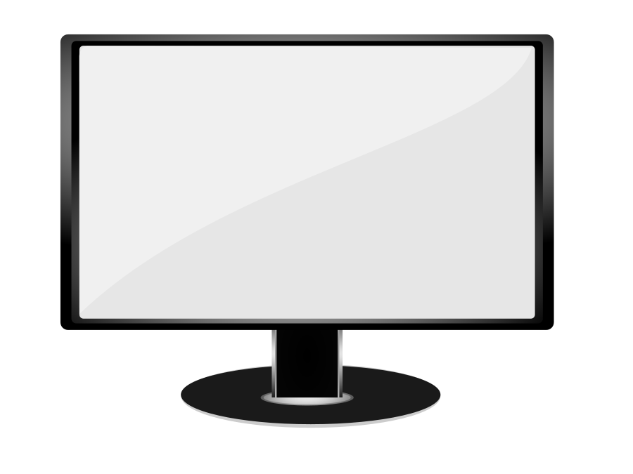 Computer clip art black and white. Image of it clipart