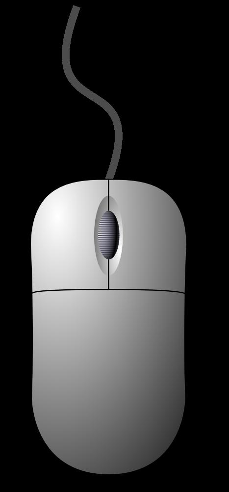 Onlinelabels mouse top down. Computer clip art computer component