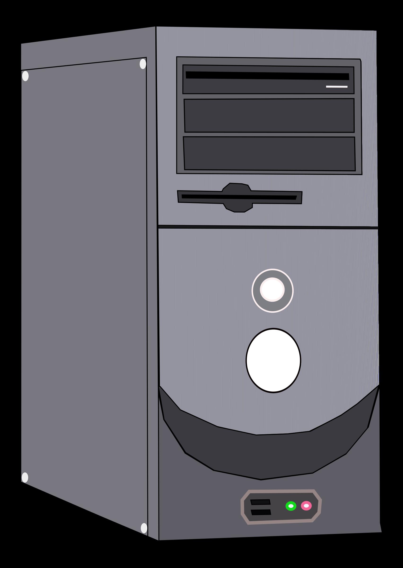 Computer clip art computer component. Clipart system case big