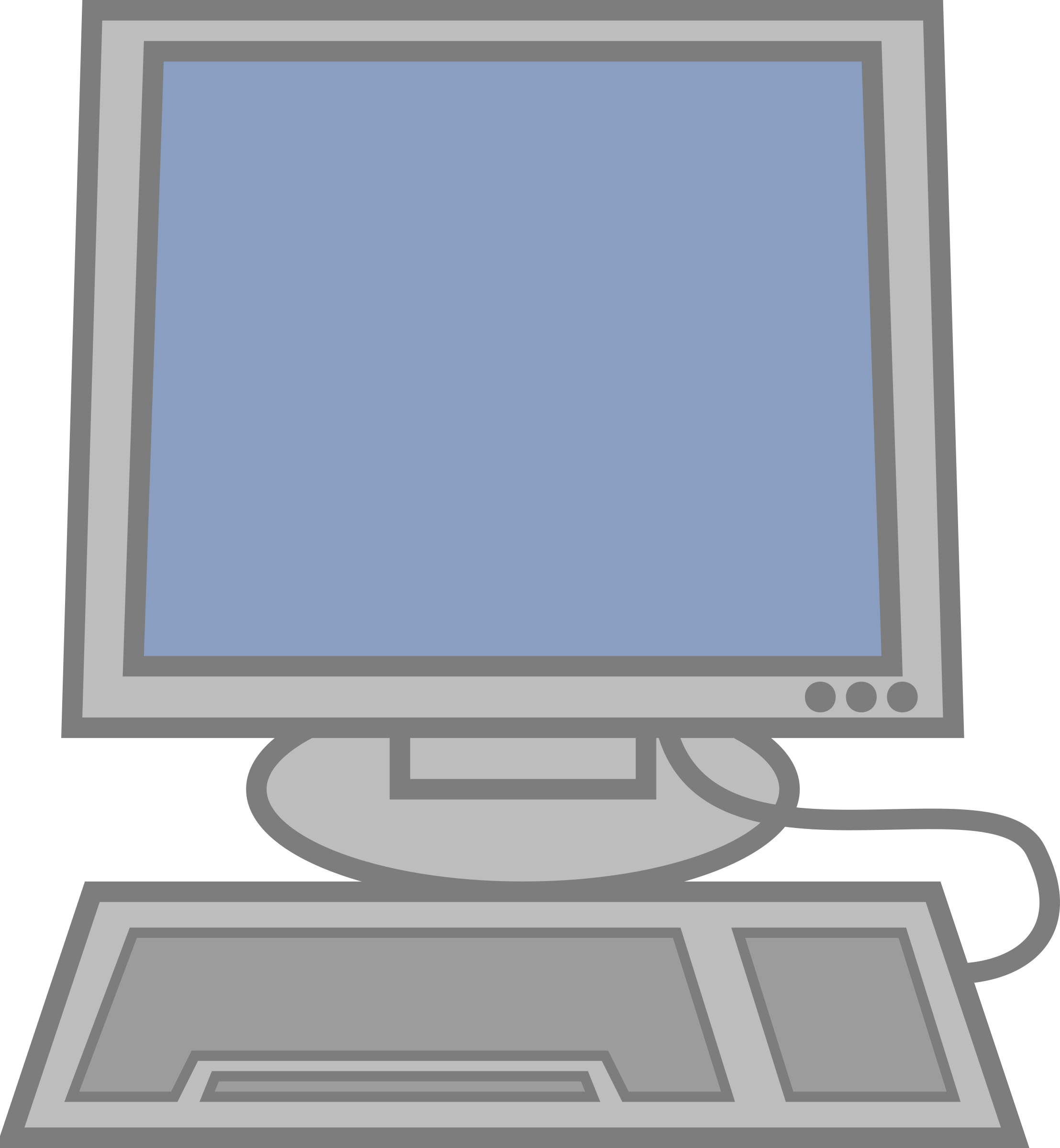 Office clipart monitor. Computer panda free images