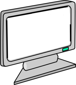 Blank monitor at clker. Computer clip art computer screen